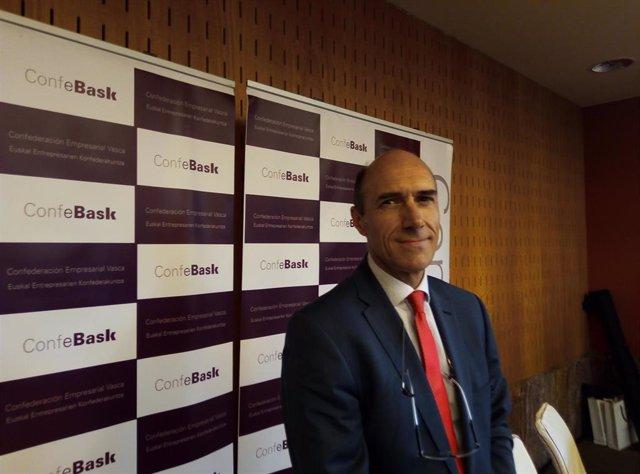 El nuevo presidente de Confebask, Eduardo Zubiaurre