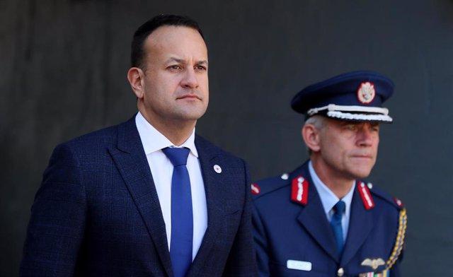 El primer ministro irlandés, Leo Varadkar, en un acto en Dublín