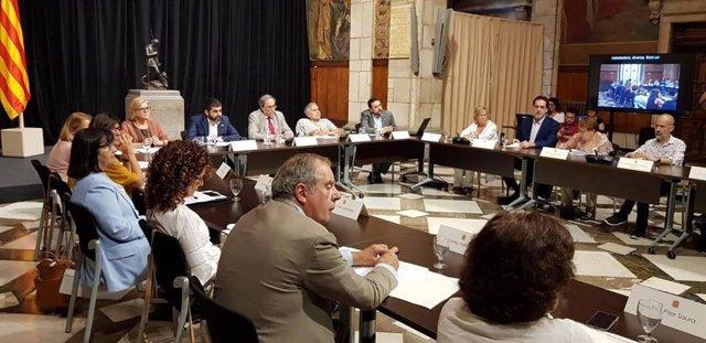 C. El Homrani, Q.Torra i A.Guillén presideixen la Taula del Pacte català pels drets de les persones amb discapacitat