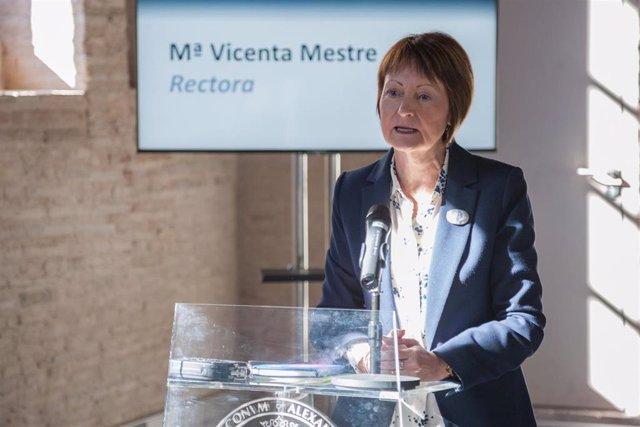 Rectora de la Universitat de València (UV), Mavi Mestre