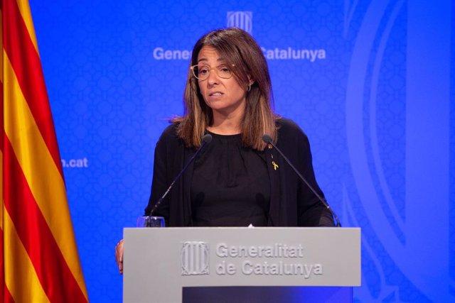 La portavoz del Govern de la Generalitat, Meritxell Budó, ofrece una rueda de prensa tras el consejo ejecutivo.
