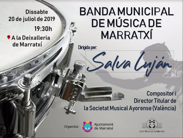 Cartel último concierto de la Banda Municipal de Música de Marratxí
