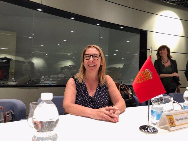 Paz Fernández,  en la Conferencia Sectorial en Madrid.