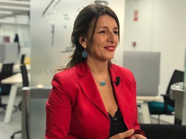 Yolanda Díaz, portavoz de Galicia En Común