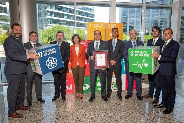 Entrega de la certificación Aenor de Empresa Saludable a Iberdrola