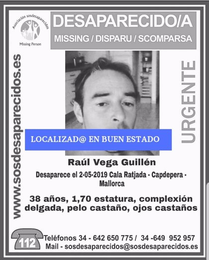 Localizado en buen estado el hombre de 38 años que había desaparecido en Cala Ratjada en mayo