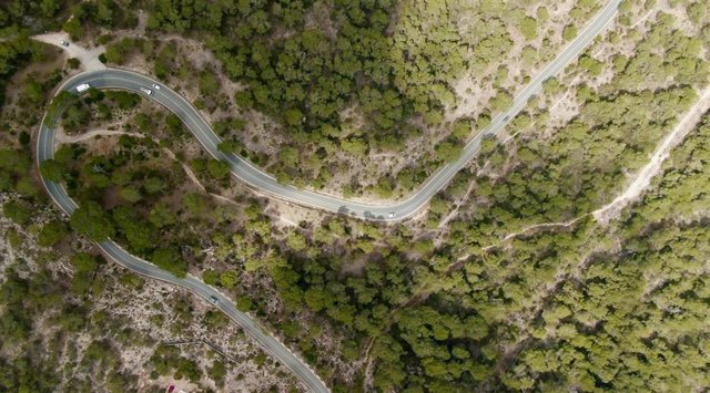 La carretera de la Mola, en Formentera.