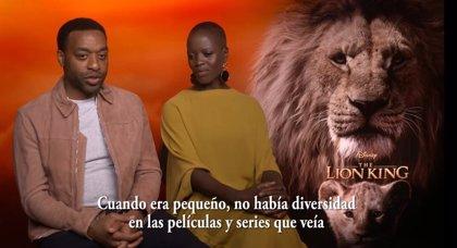Chiwetel Ejiofor y Florence Kasumba defienden la diversidad de El rey león