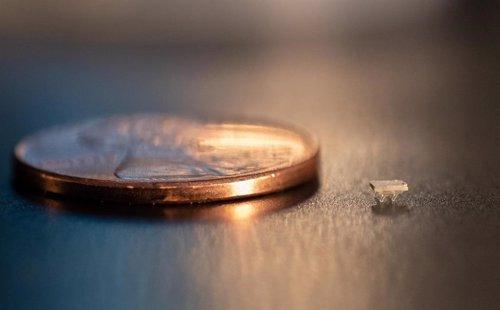 Comparativa del robot y una moneda