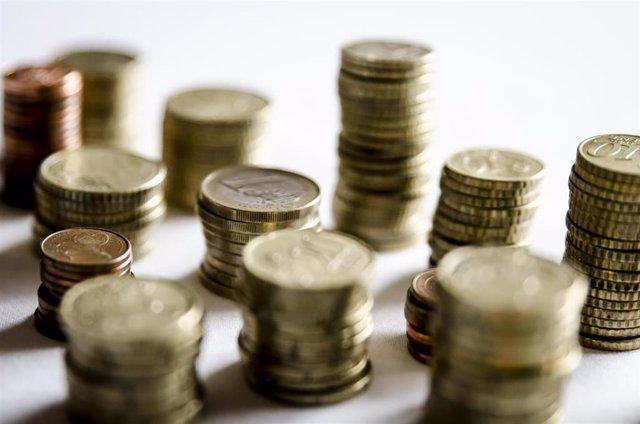 Monedas y céntimos de euro.
