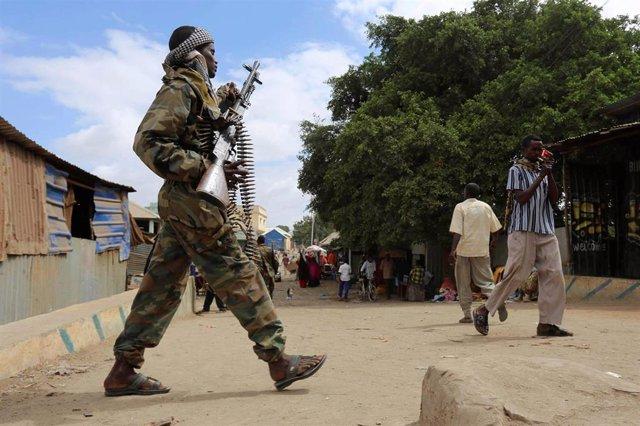 Soldado del Ejército de Somalia