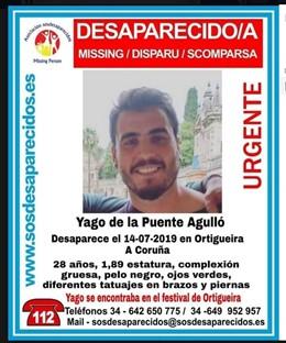 Joven desaparecido en el Festival de Ortigueira