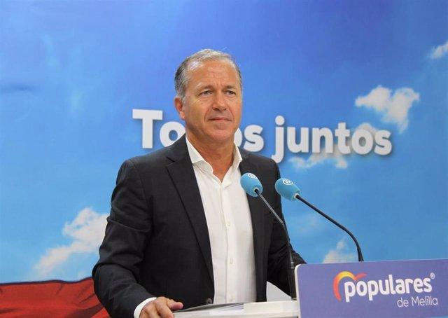 El secretario general del PP de Melilla, Miguel Marín