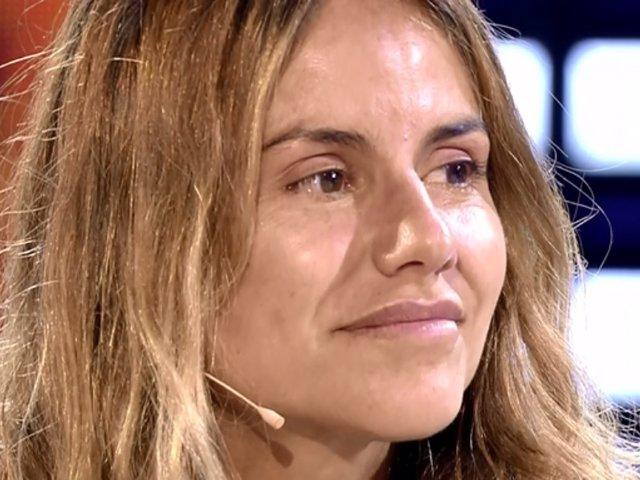 Mónica Hoyos en el plató de 'Supervivientes 2019'