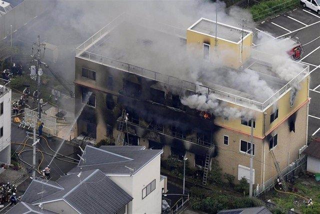 Incendio provocado en un estudio de anime de Japón.