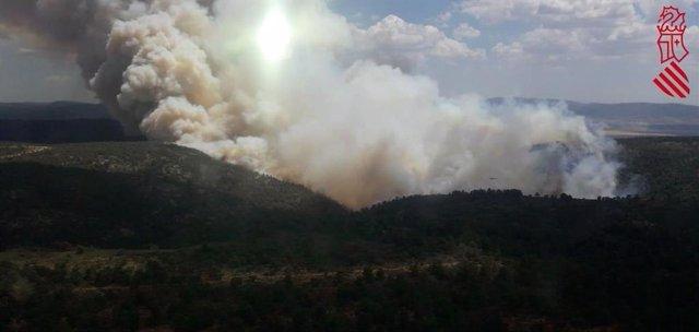 Imagen de archivo del incendio en Beneixama