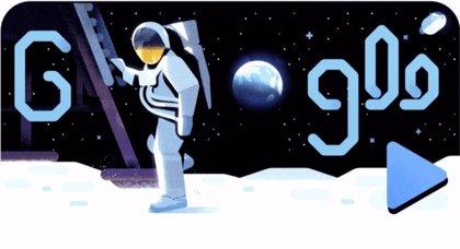 Google conmemora el 50 aniversario de la llegada del Apolo 11 a la Luna con un vídeo 'doodle' espacial