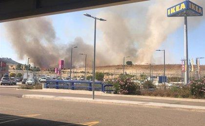 El fuego en Arroyo (Valladolid) arrasó doce hectáreas de cereal