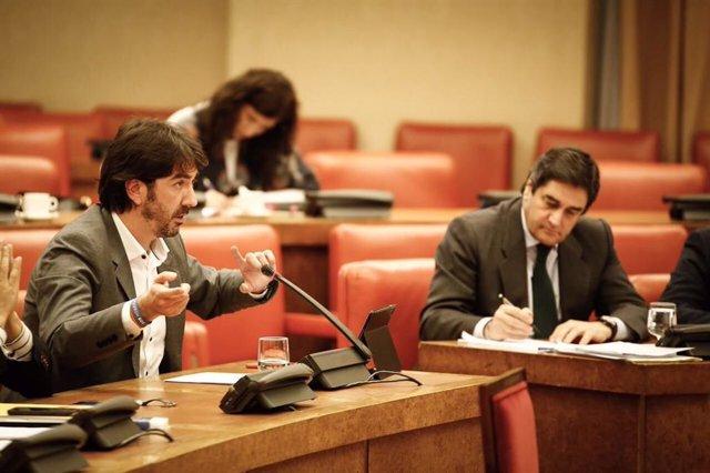 Sergio del Campo (Cs) y José Ignacio Echániz (PP) en la Comisión de Empleo del Congreso