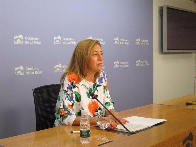 Begoña Martínez Arregui, portavoz del Ejecutivo regional en funciones