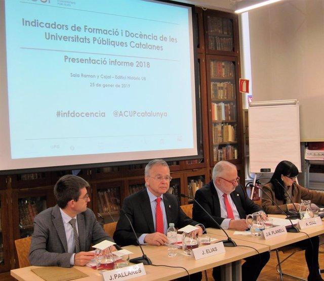 ARXIVO / Representants de l'Acup en la presentació d'un estudi