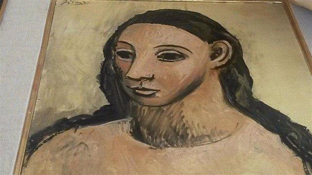 Imagen del cuadro de Picasso 'Cabeza de mujer joven'.