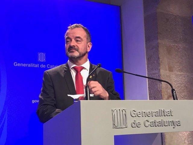 El conseller de Acción Exterior de la Generalitat, Alfred Bosch