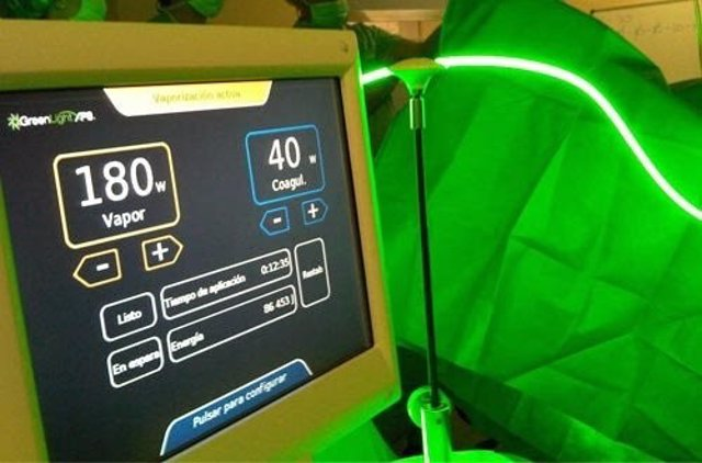 El láser verde disminuye el tiempo de hospitalización en pacientes sometidos a cirugía de próstata
