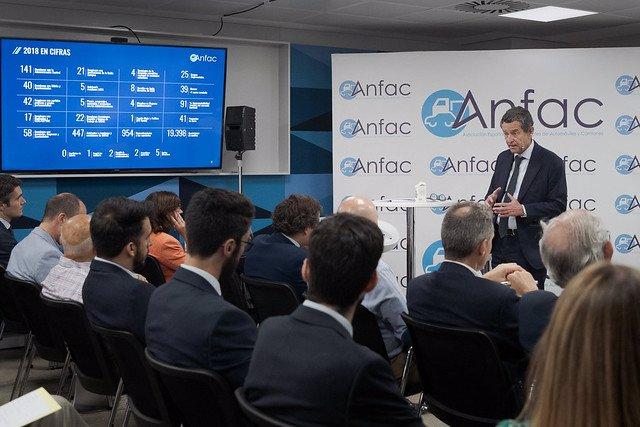 Mario Armero en la presentación del Informe Anual 2018
