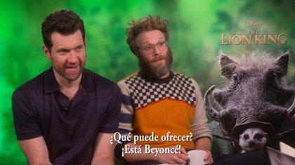 """Seth Rogen y Billy Eichner son Timon y Pumba en El rey león: """"¿Qué puede ofrecer este remake? ¡Está Beyoncé!"""""""