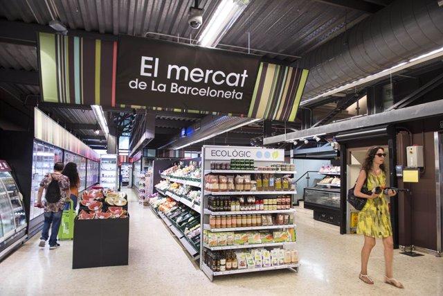 L'establiment de Caprabo del Mercat de la Barceloneta