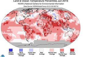 Junio pasado fue el más caluroso en el mundo de 140 años de registros