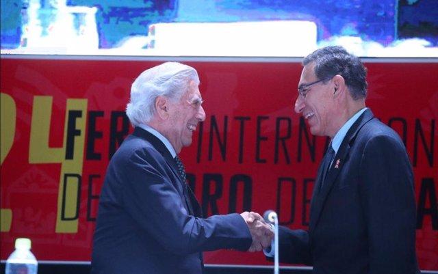 El presidente peruano y el Premio Nobel Vargas Llosa