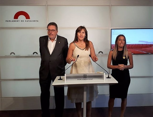 Josep Lluís Cleries, Laura Borràs i Míriam Nogueras (JxCat)