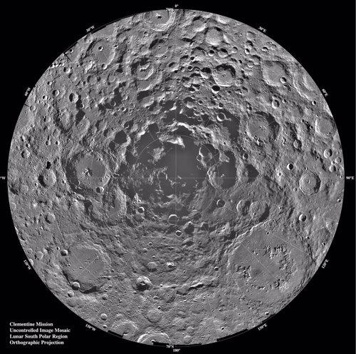 Polo sur de la Luna