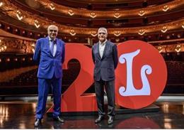 El president de la Fundació del Gran Teatre del Liceu, Salvador Alemany, i el president de Renfe, Isaías Táboas