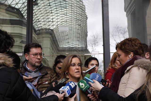 Imagen de archivo de la diputada del PSOE en la Asamblea de Madrid Purificación Causapié.