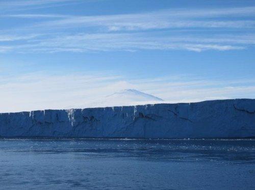 Frente de hielo de un glaciar antártico