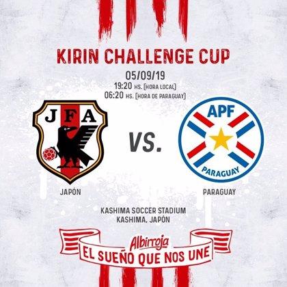 Paraguay jugará un amistoso con Japón en septiembre
