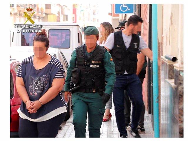 Detenidos en una operación de la Guardia Civil en Novelda