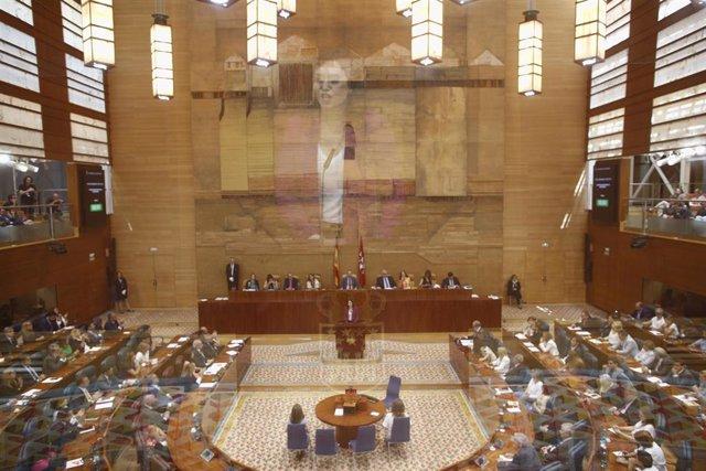 Imagen de archivo del hemiciclo de la Asamblea de Madrid.
