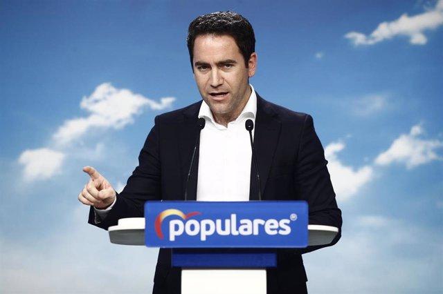 El secretario general del Partido Popular, Teodoro García Egea,