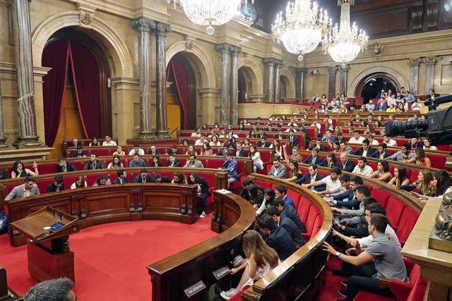Simulació plenria en el Parlament Universitari