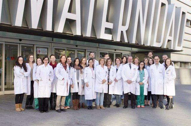 Foto de grupo del equipo de Alergología del Hospital Gregorio Marañón de Madrid.