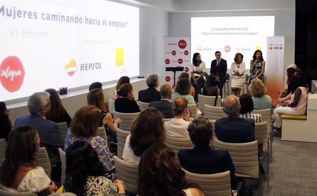 Clausura del programa de Fundación Repsol y Fundación Integra dirigido a mujeres víctimas de violencia de género.
