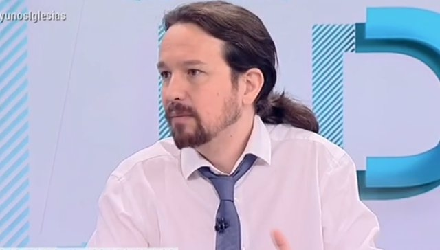 Entrevista en TVE al líder de Podem, Pablo Iglesias