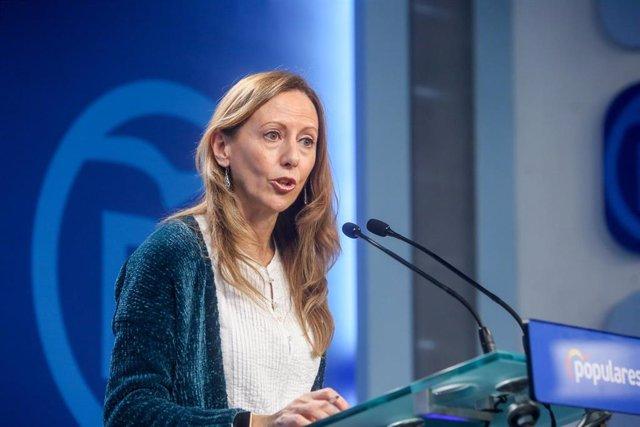 La vicesecretaria de Comunicación del Partido Popular, Marta González, en declaraciones a los medios después de la reunión del Comité de Dirección del partido.