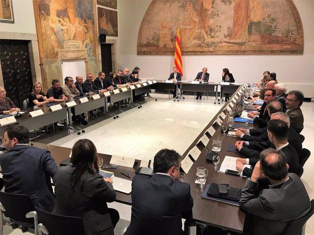 Consell d'Acció Exterior de la Generalitat, amb el president Quim Torra i el conseller Alfred Bosch (archivo)