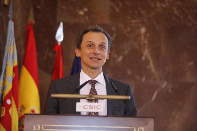 El ministro de Ciencia, Pedro Duque, preside el acto Premios Jaume I, organizado por el Consejo Superior de Investigaciones Científicas (CSIC) en Madrid