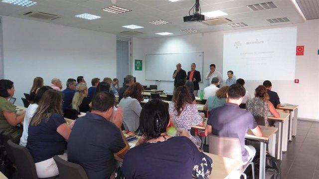 Participantes en los cursos de verano de la Universidad Internacional de Andalucía (UNIA) en La Rábida (Huelva)